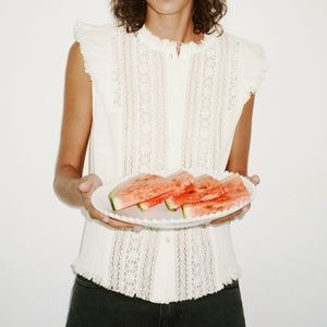 Vintage style embroidered rustic blouse
